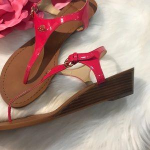 Coach Shoes - Coach sandals hot pink patent size 9.5